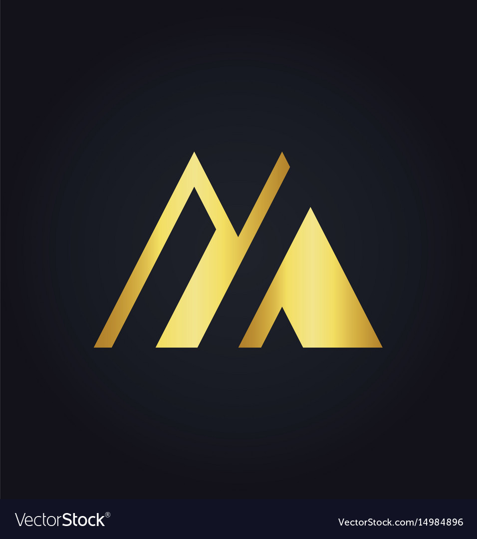 Letter m colored gold logo royalty free vector image letter m colored gold logo vector image thecheapjerseys Image collections