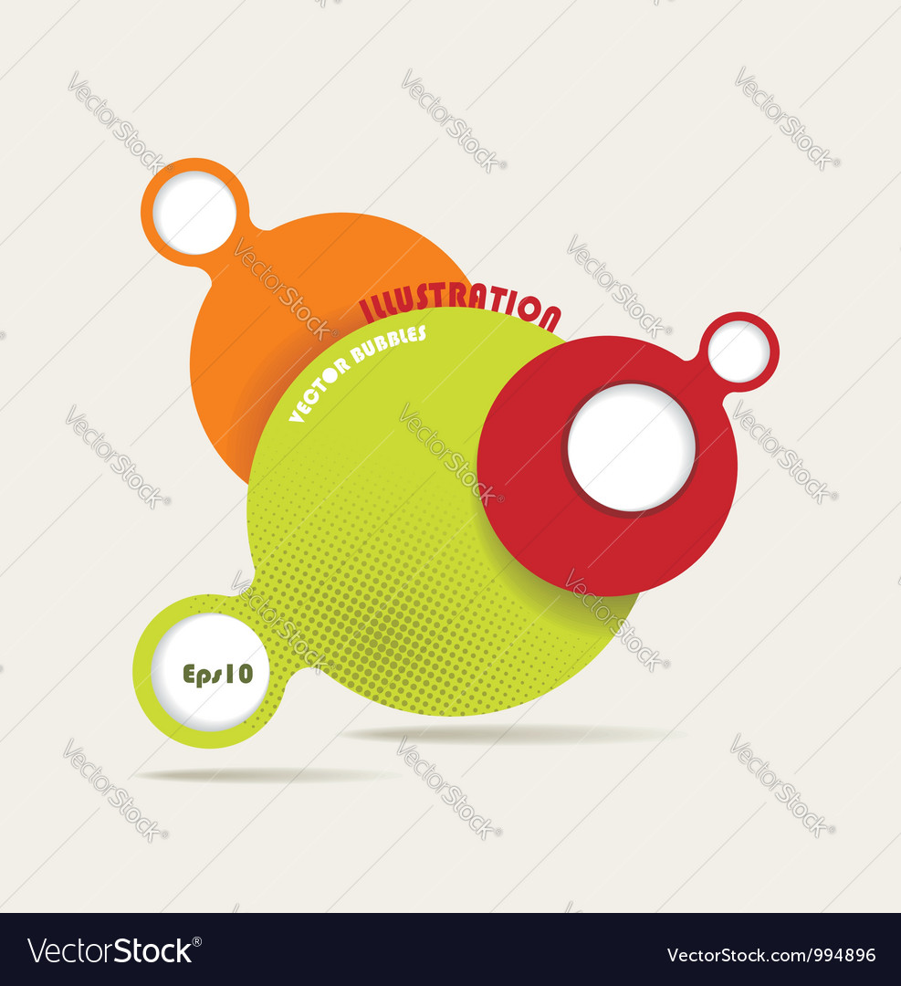 Retro style speech bubbles vector image