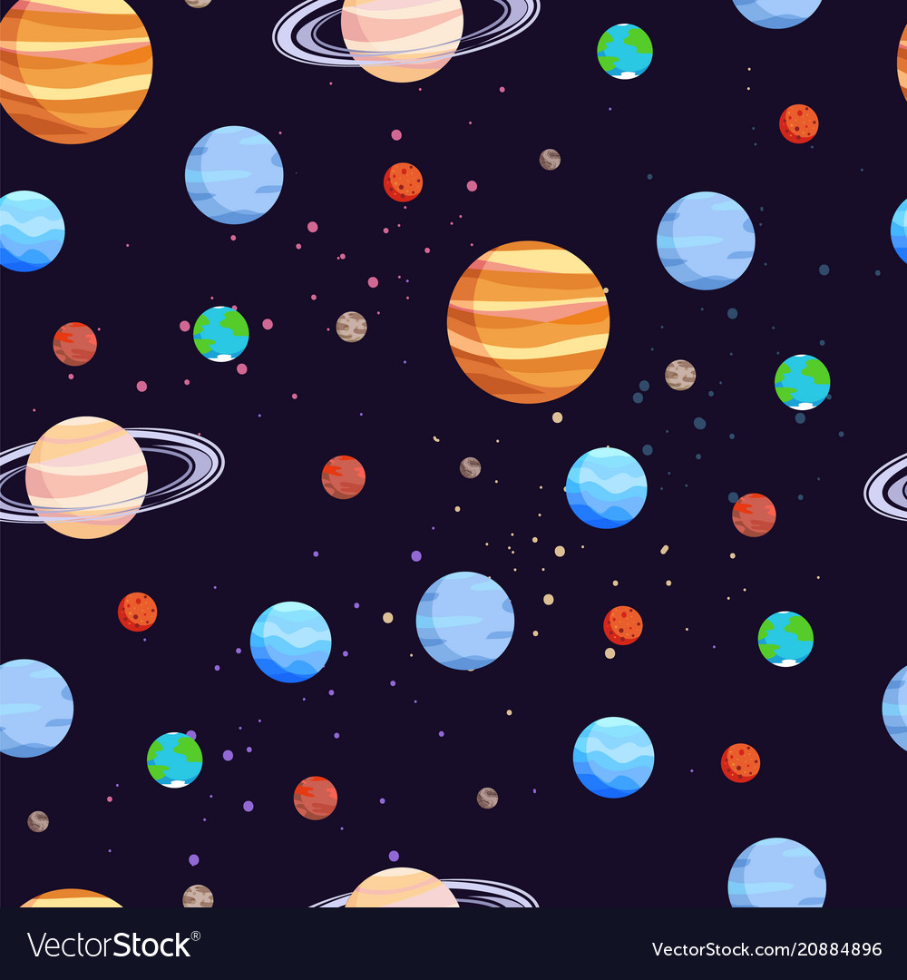 Space and planets pattern