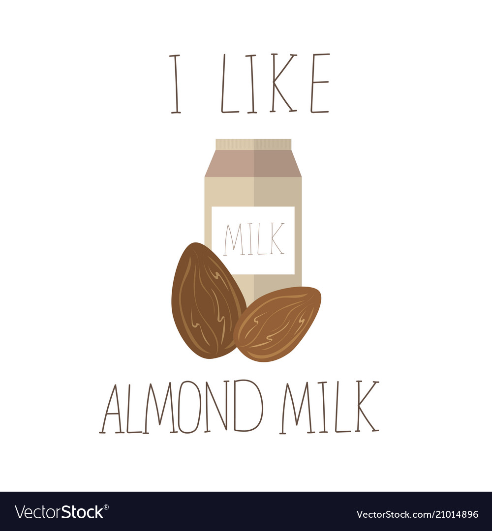 With almond milk lactose free
