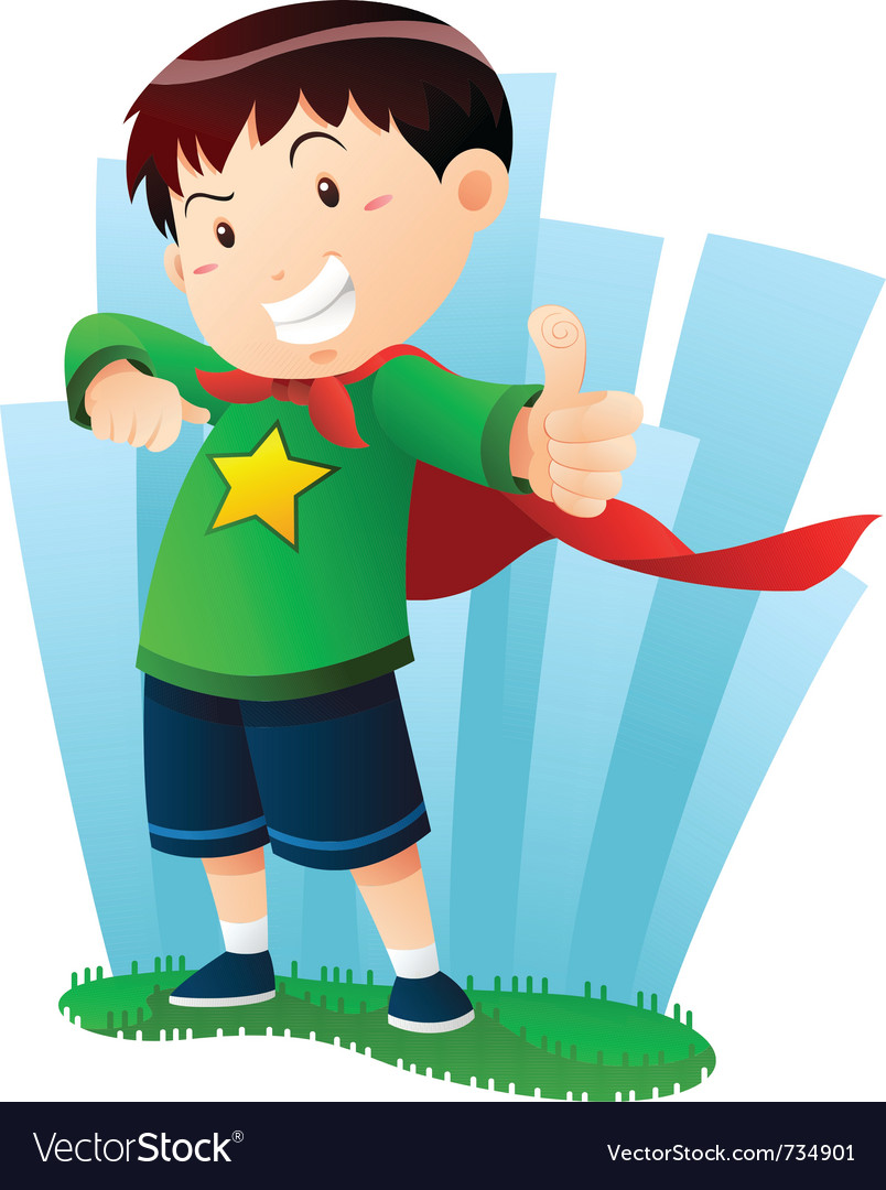 Action boy vector image
