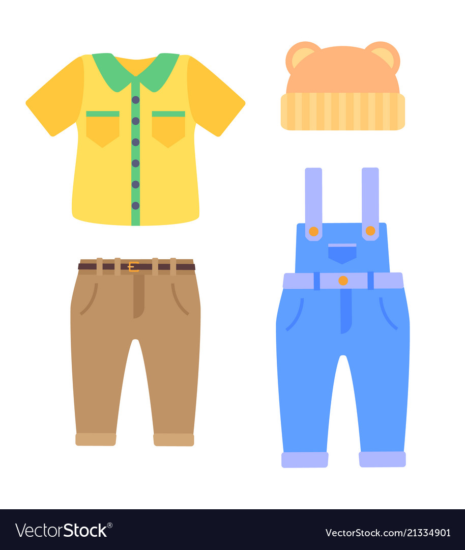 Baby clothes collection for boys in toddlers age