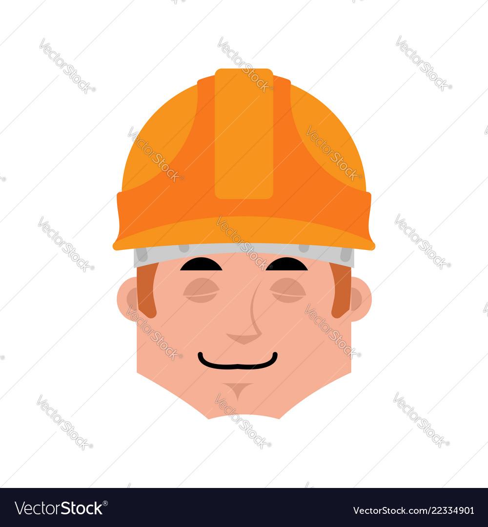 Builder sleep emotion avatar worker in protective