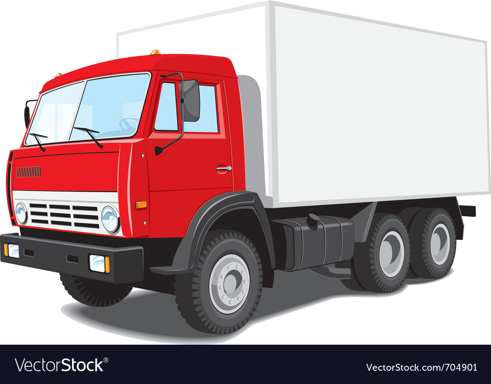 delivery truck royalty free vector image vectorstock rh vectorstock com truck vector clip art truck vector png