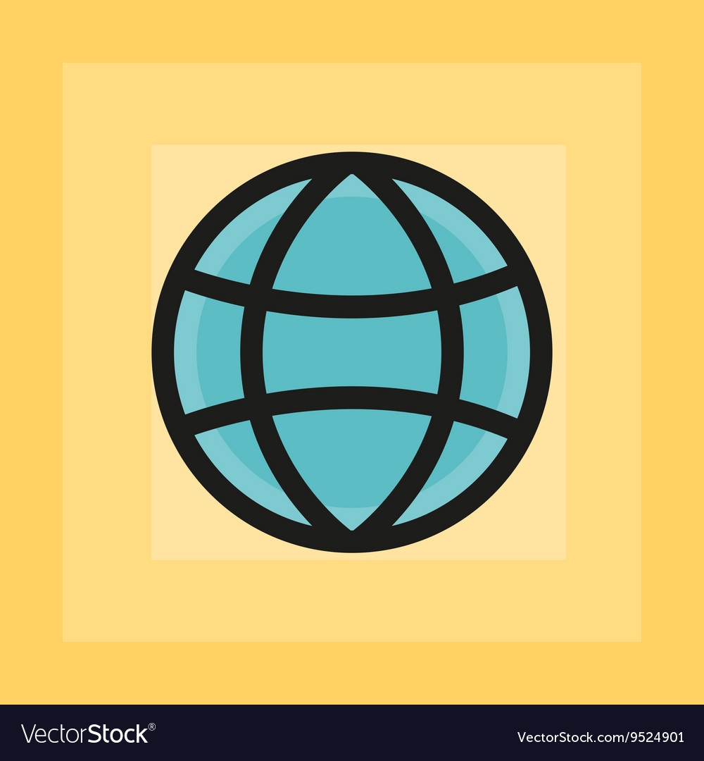 Flat earth sphere icon
