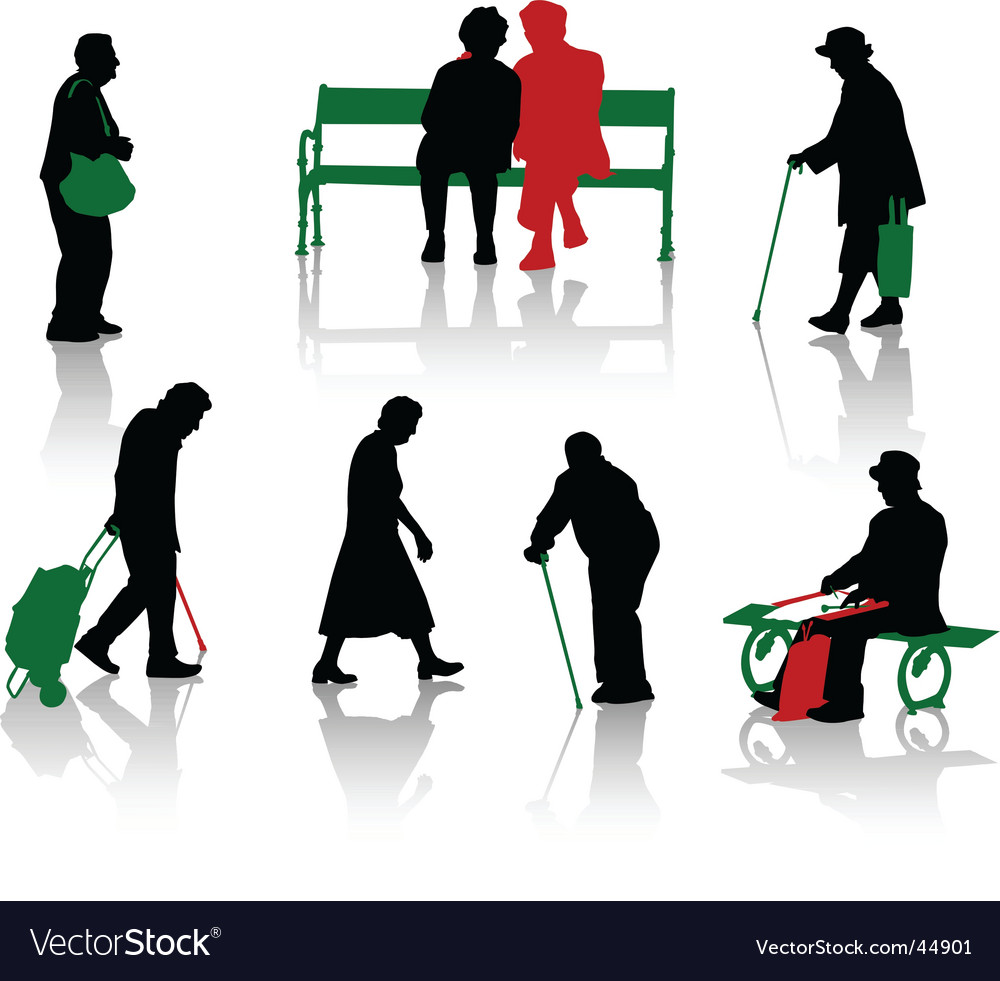 Oldpeople vector image