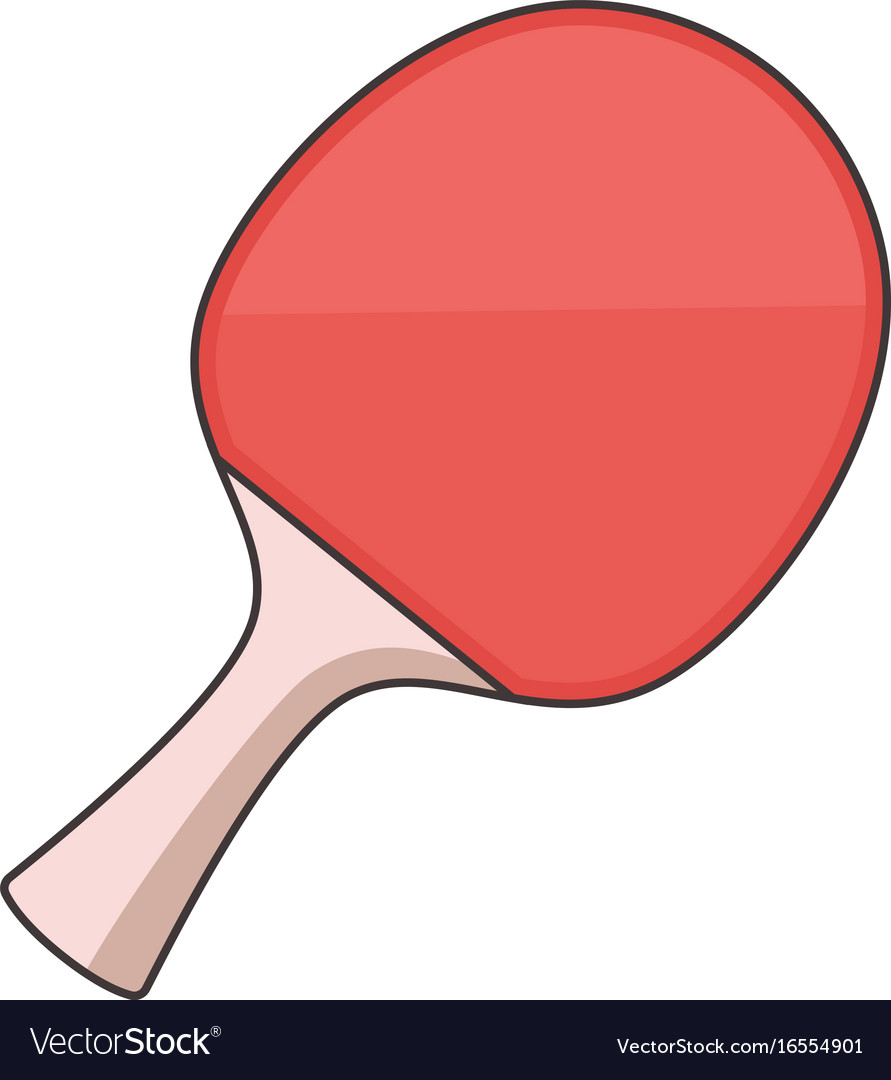 Ping pong paddle icon cartoon style