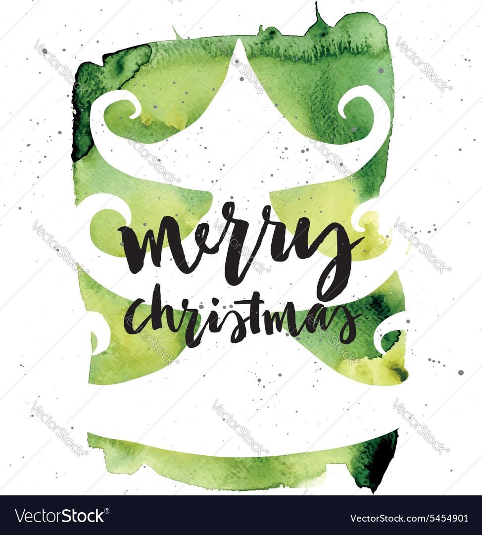 Spruce Christmas card Handmade Hand lettering