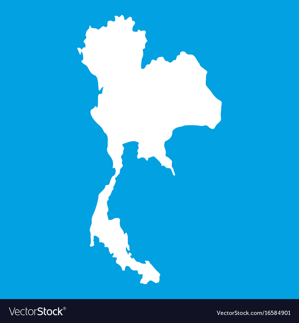 Thailand map icon white royalty free vector image thailand map icon white vector image gumiabroncs Choice Image