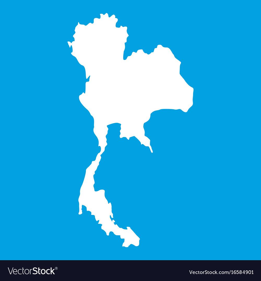 Thailand map icon white