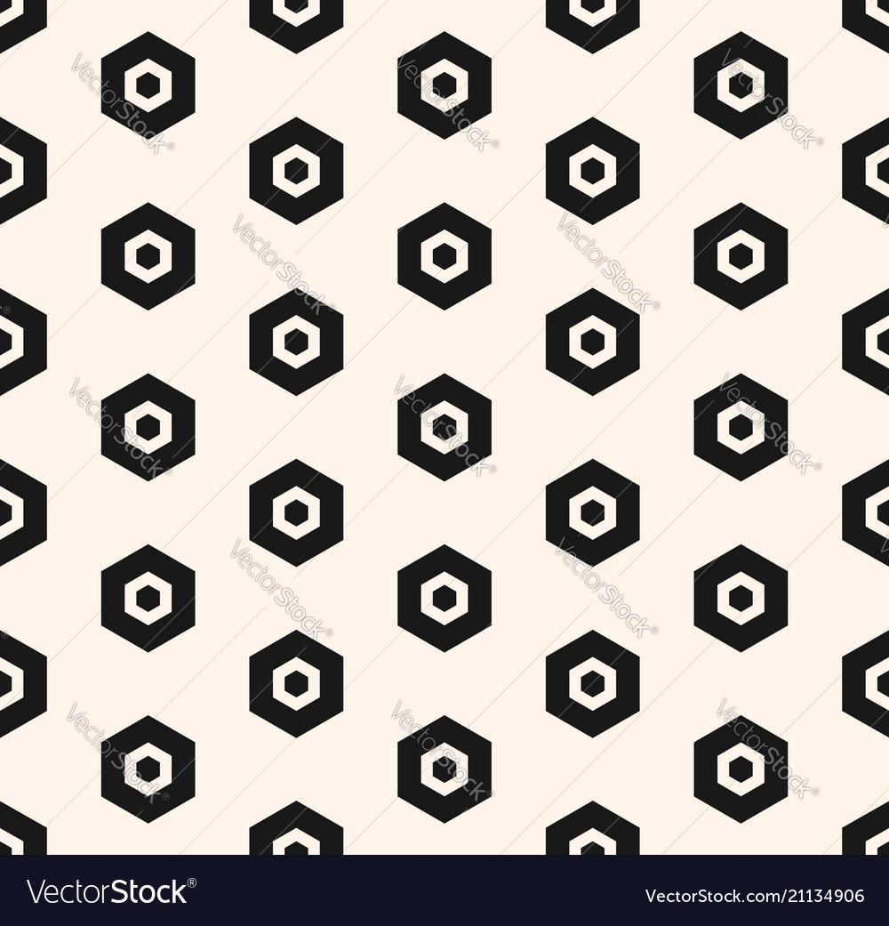 Abstract geometric minimalist hexagon pattern