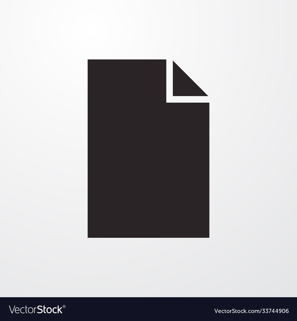 Blank paper sign icon flat design style fo