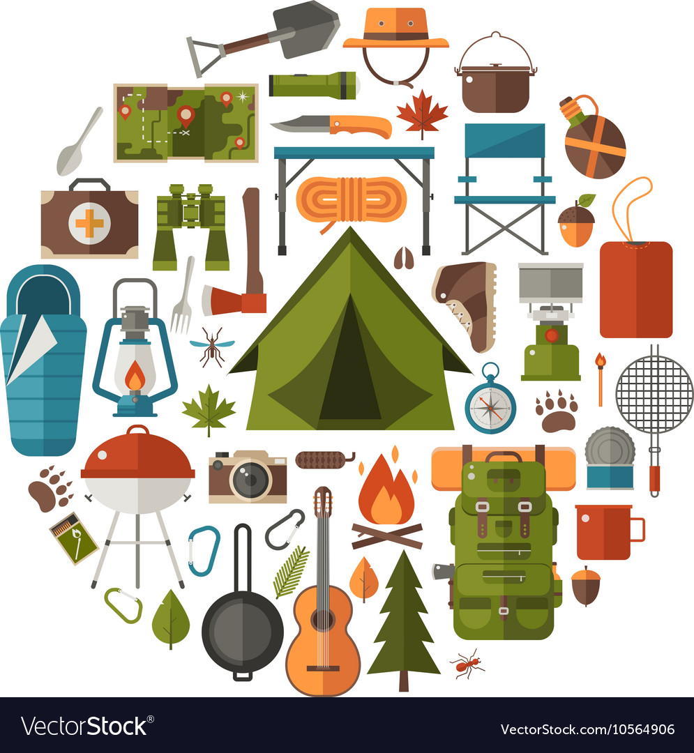 Camping and Hiking Icons
