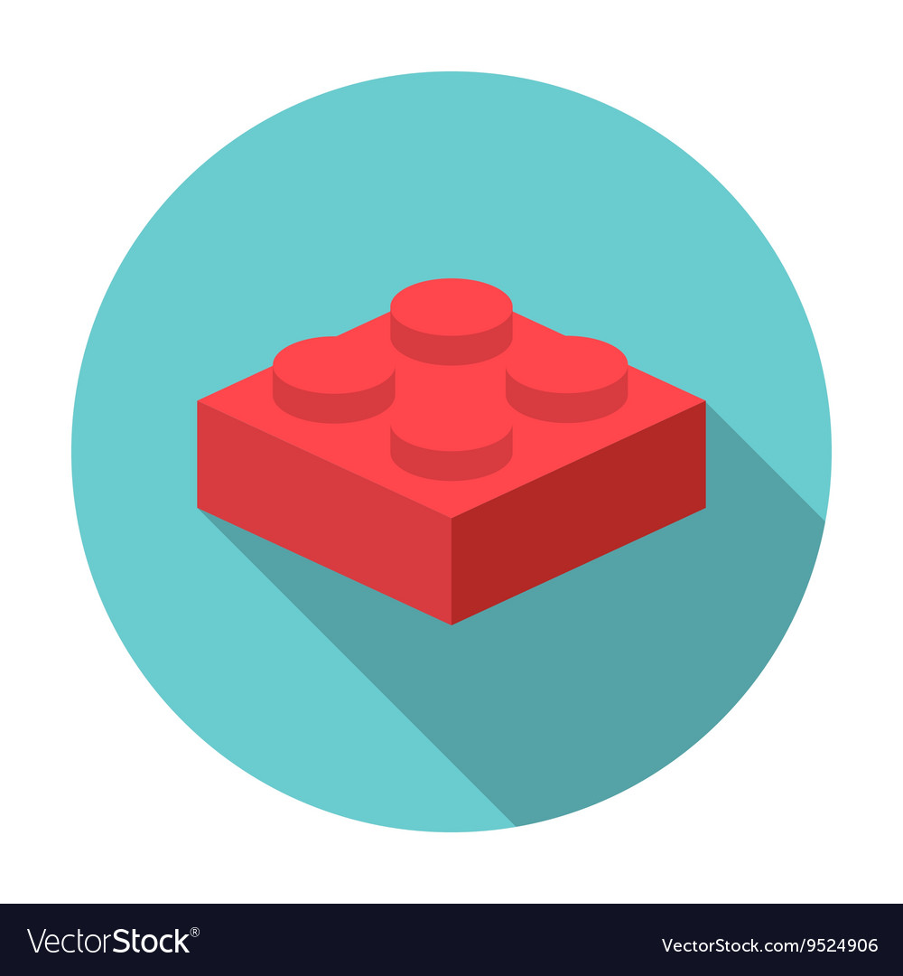 Flat constructor block icon