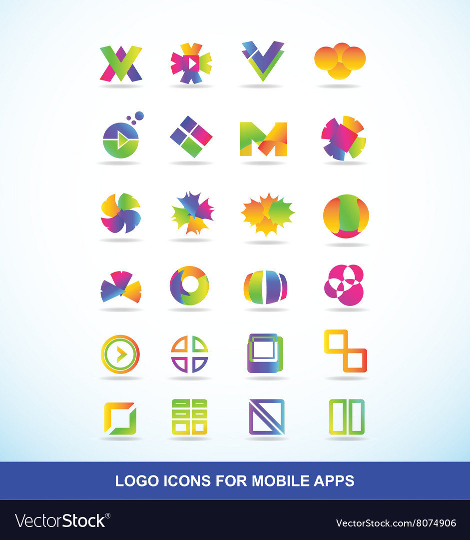 Logo icon set elements for apps