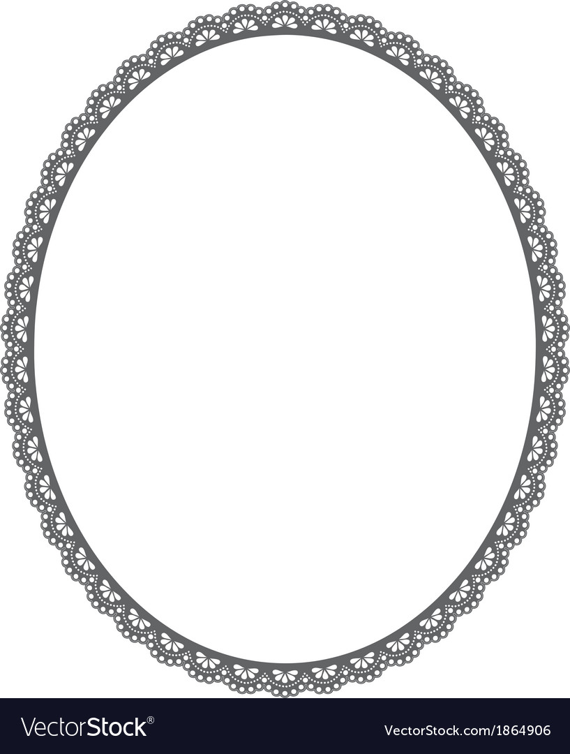 Oval frame on white background Royalty Free Vector Image