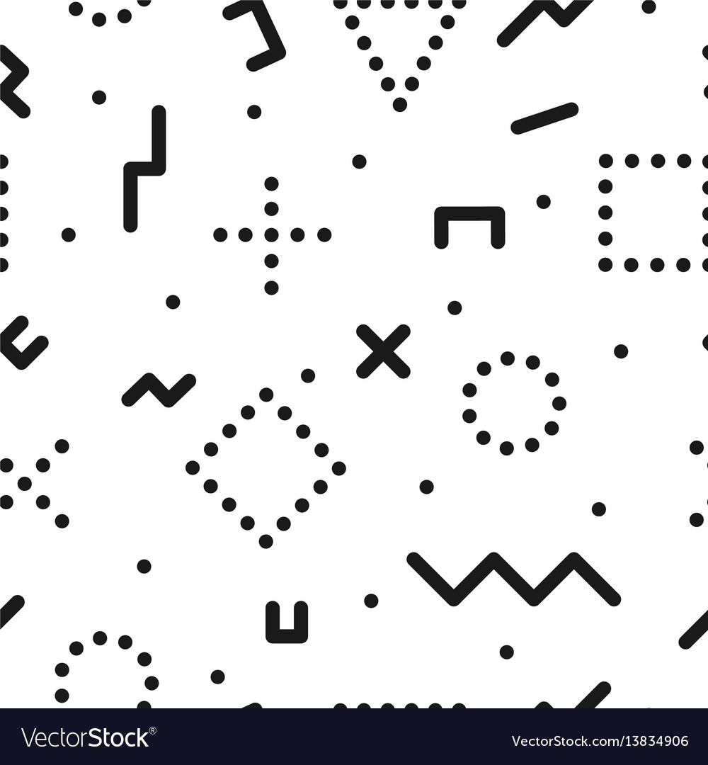 Retro memphis pattern - seamless background