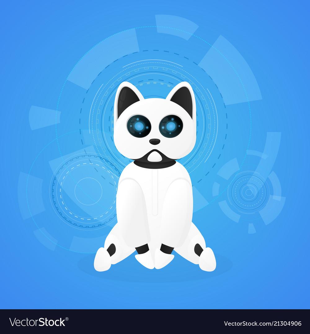 Robot cat animal machines working automatically