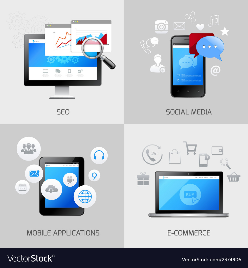 SEO web mobile concepts