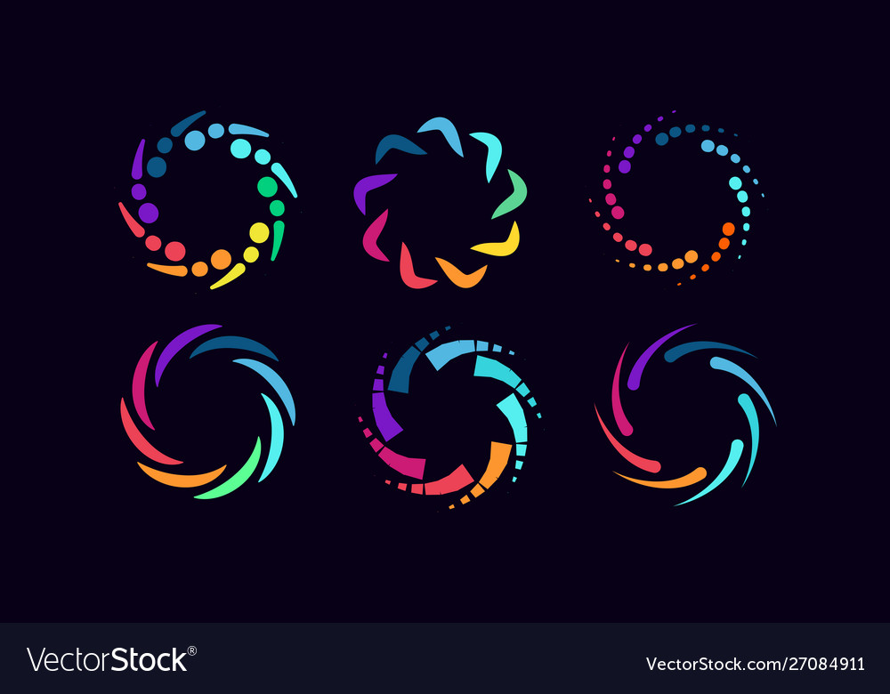 Abstract colorful recycled logo