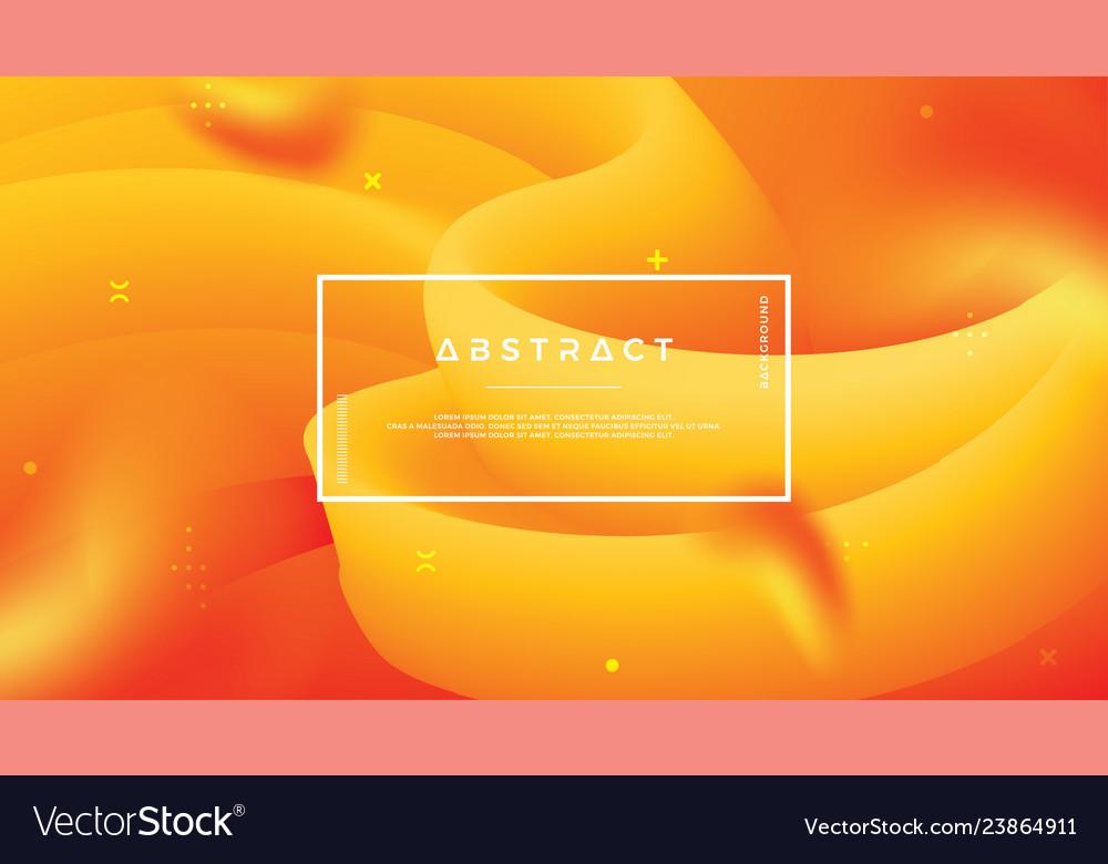 Abstract wave flow orange background