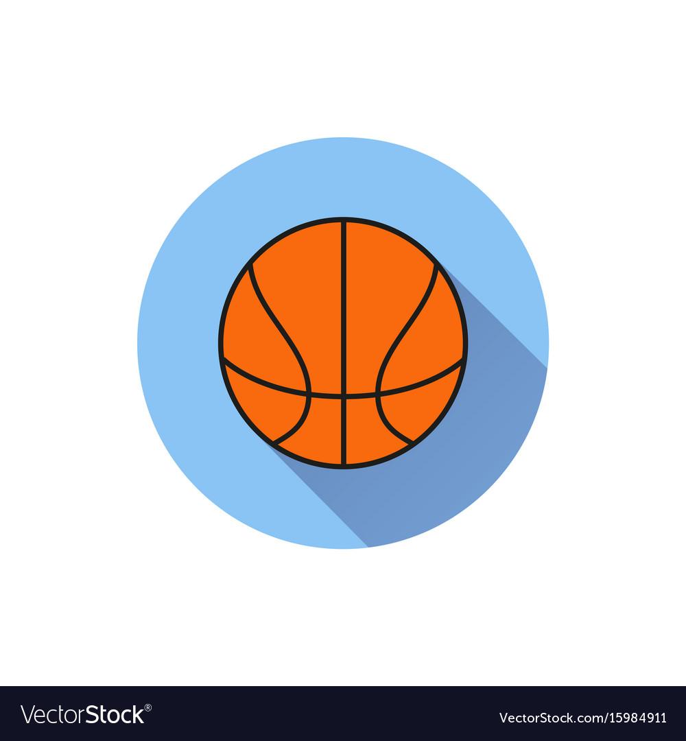 Basketball ball outline in white background