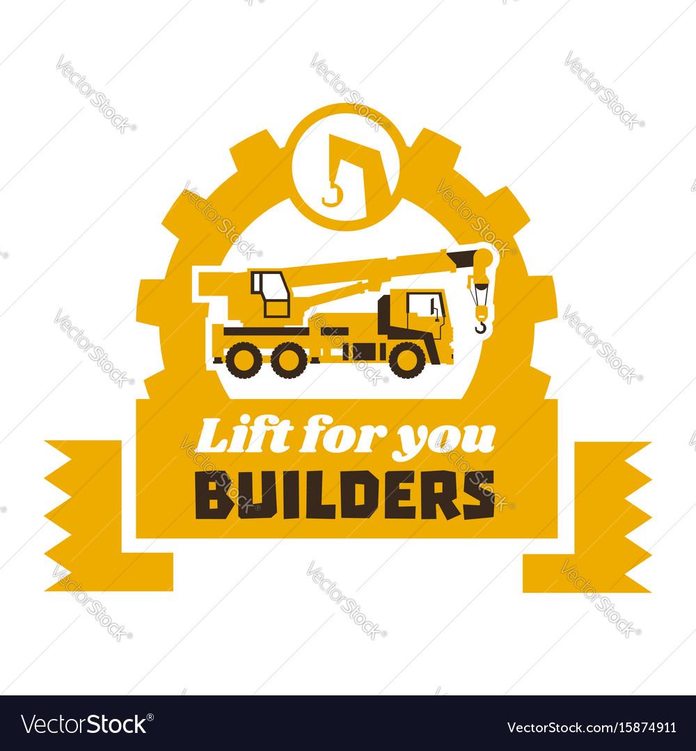 Crane truck logo construction works