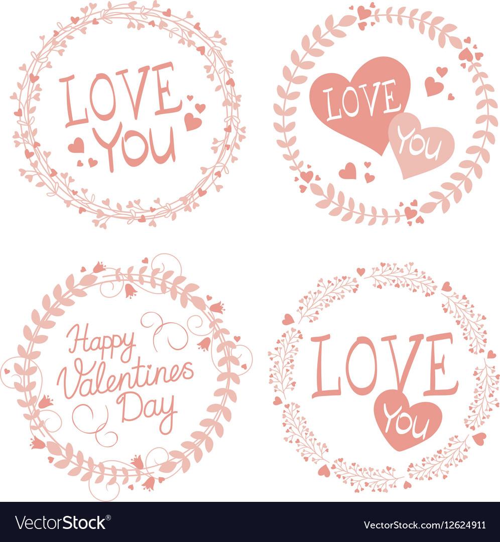 Garland Valentines day