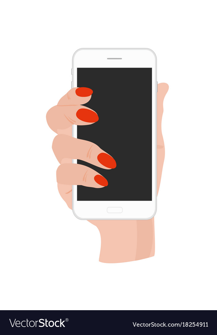 Hand holding phone with