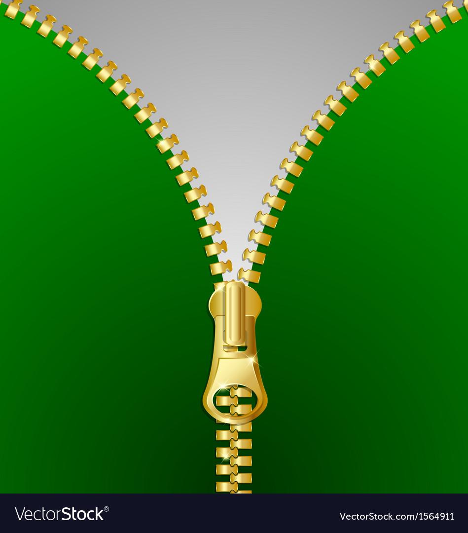 Metallic zipper