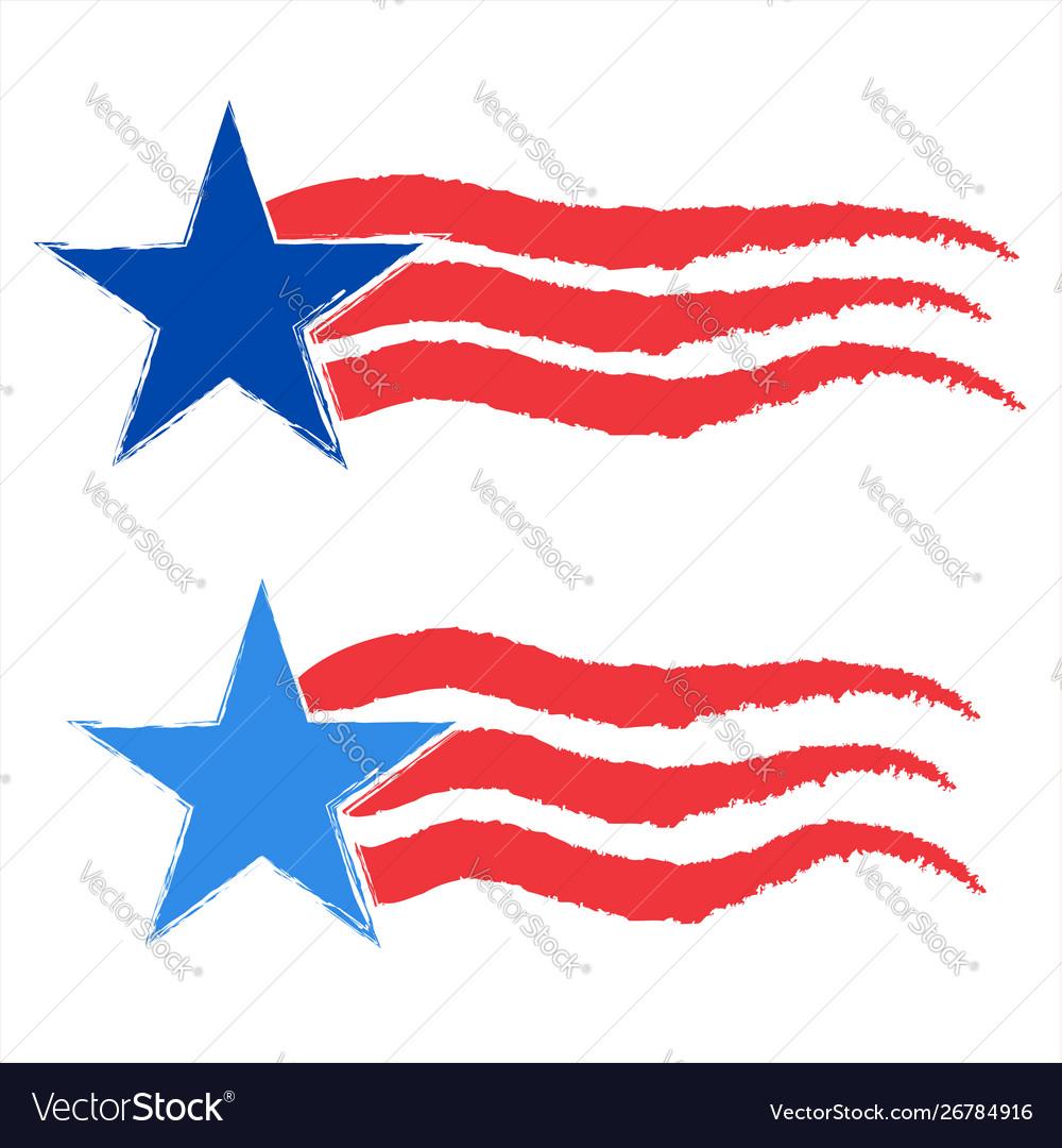 American star icon symbol set