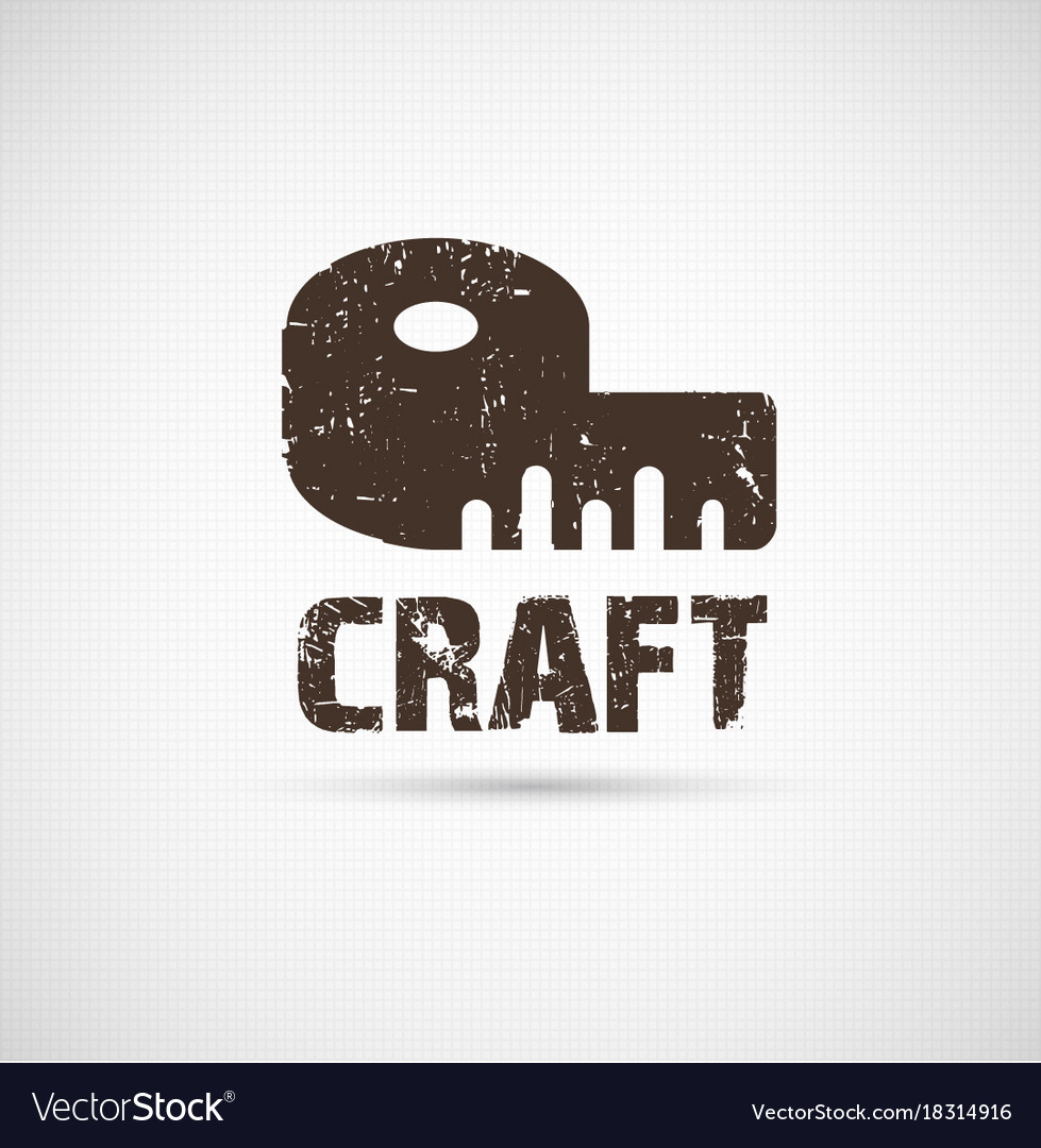 Craft Logo Business Idea Royalty Free Vector Image