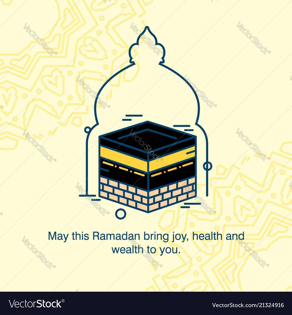 Eid mubarak greetings card with elegent design vector image m4hsunfo