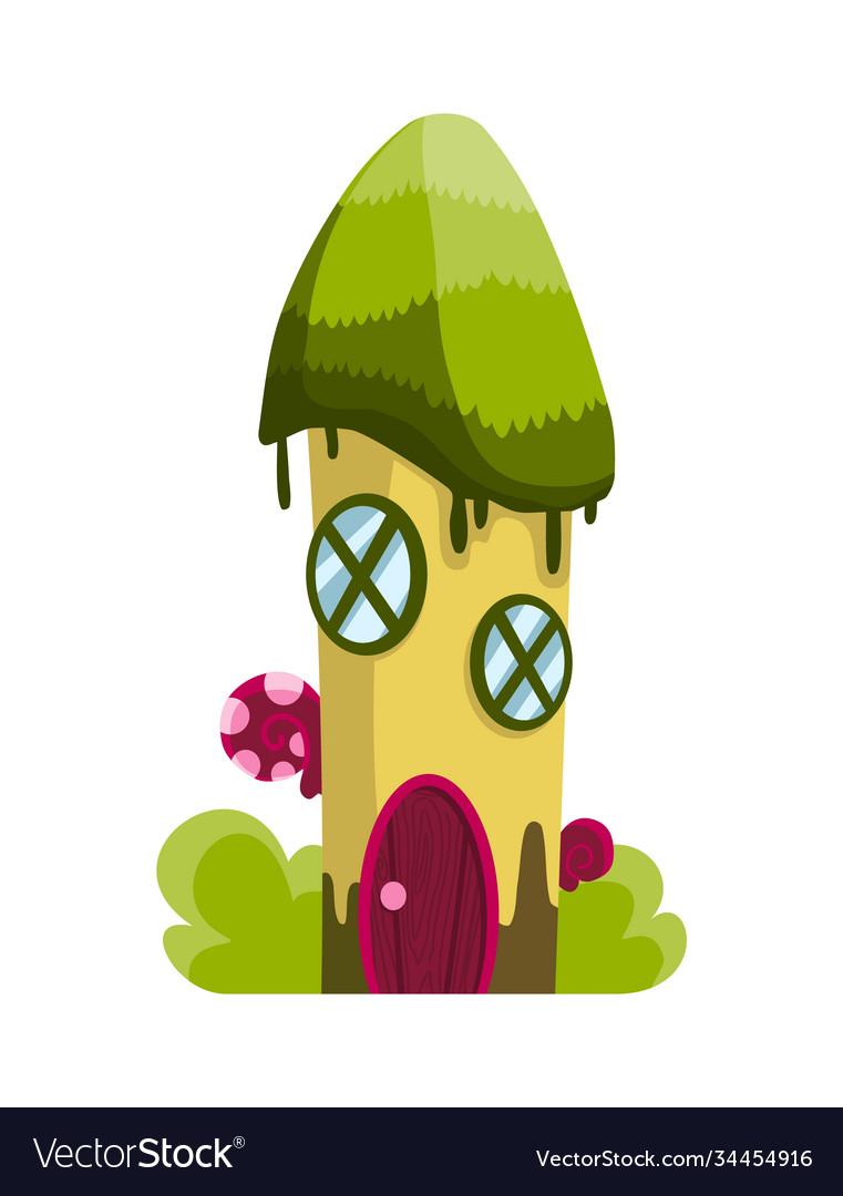 Fairytale house cartoon house in shape of