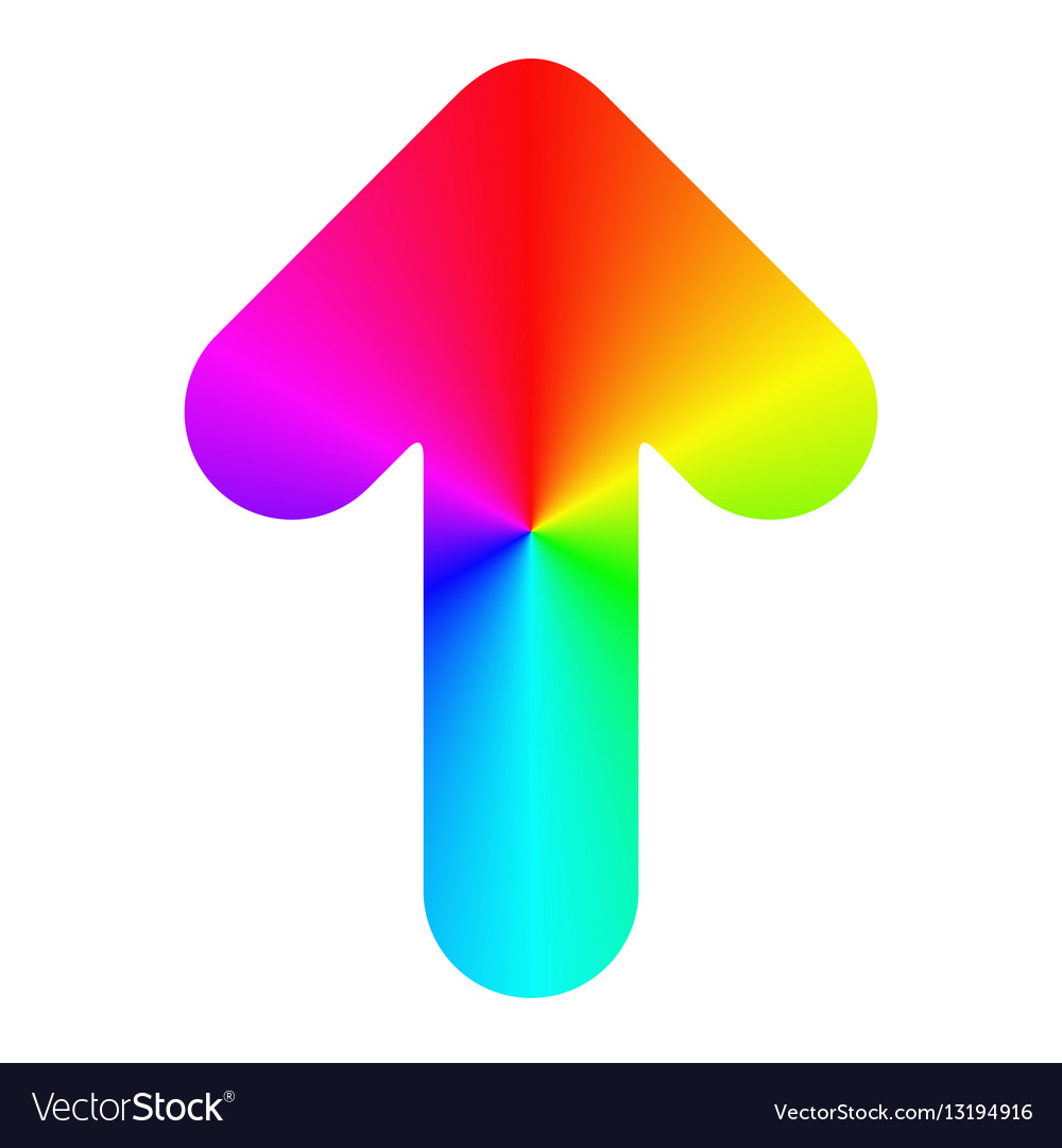 Isolated rounded rainbow arrow icon design vector image