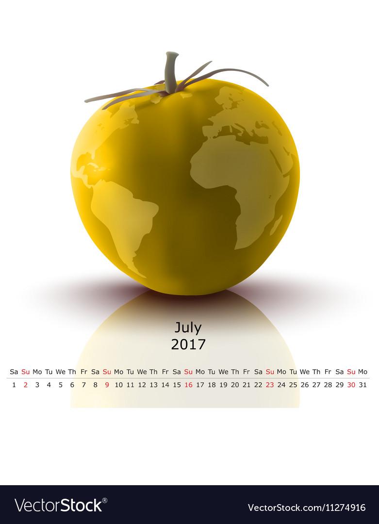 July 2017 tomato calendar