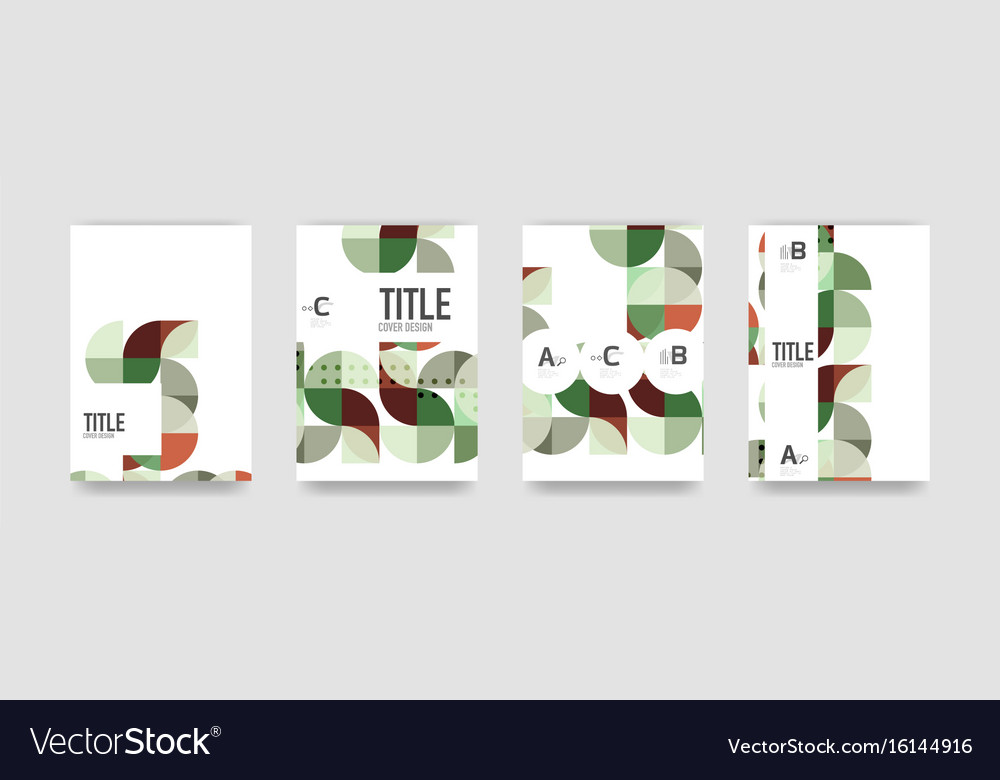 set of brochure cover templates royalty free vector image