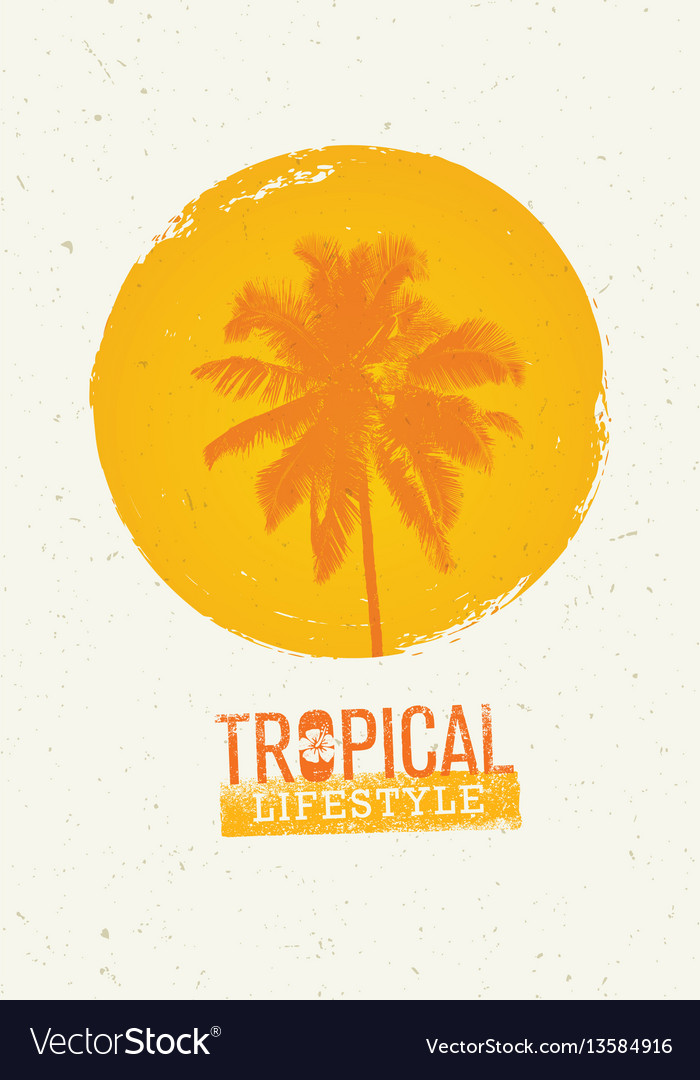 Tropical lifestyle summer beach party creative