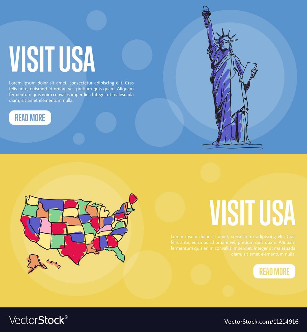 Visit USA Touristic Web Banners