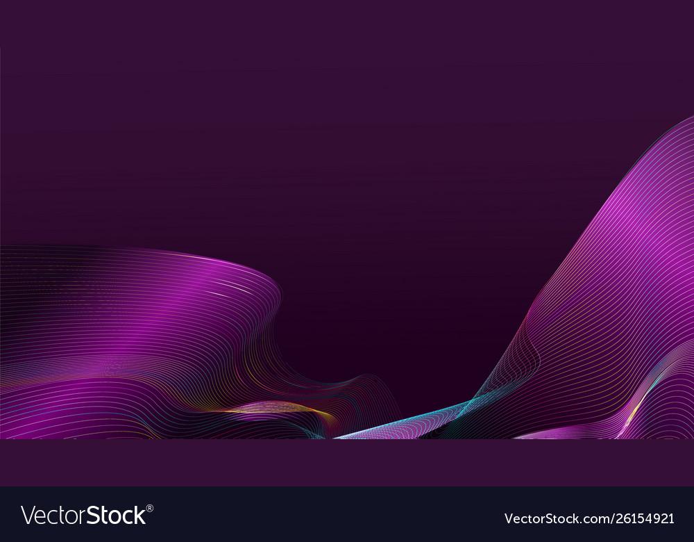 Abstract gradient purple wave mesh on dark purple