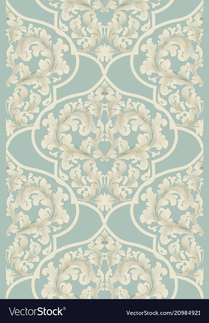 Baroque seamless pattern royal texture