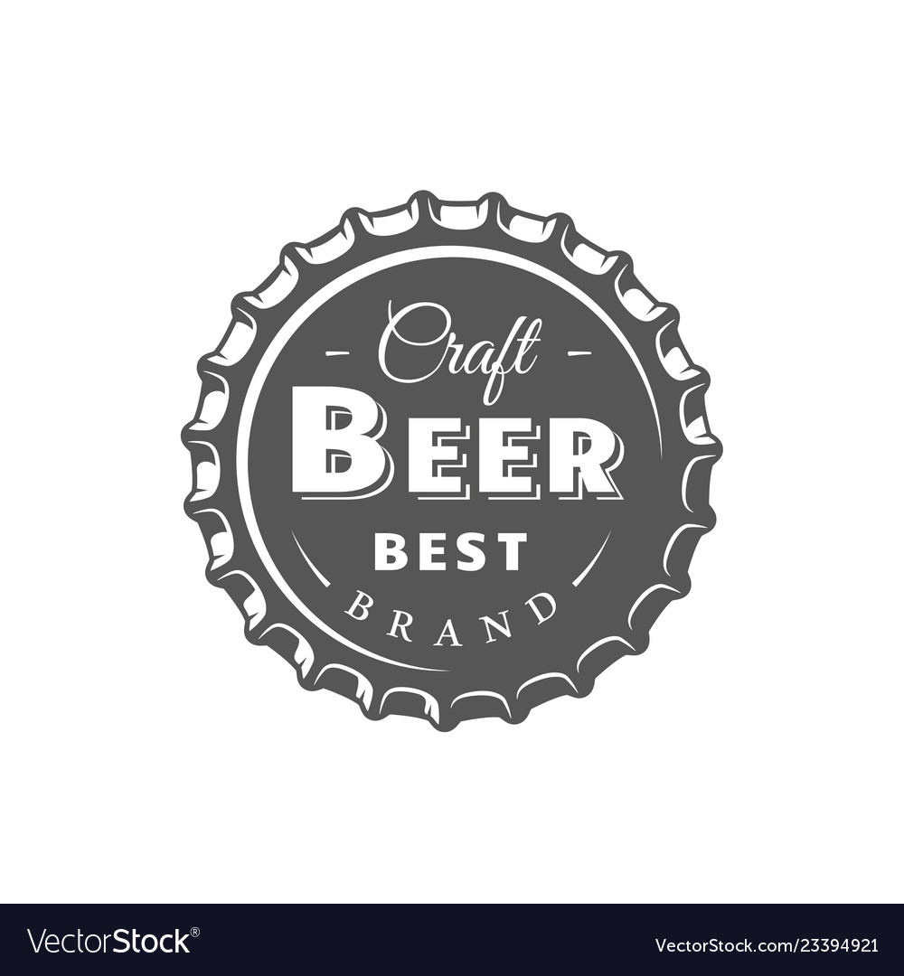 Beer label isolated on white background
