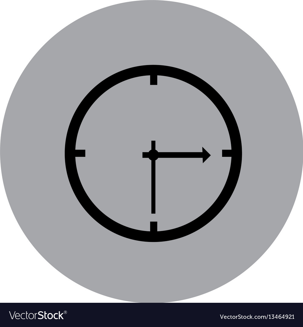 Blue emblem sticker clock icon