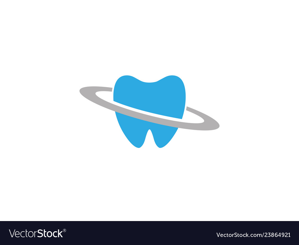 Blue teeth care in a circle for dentist clinic