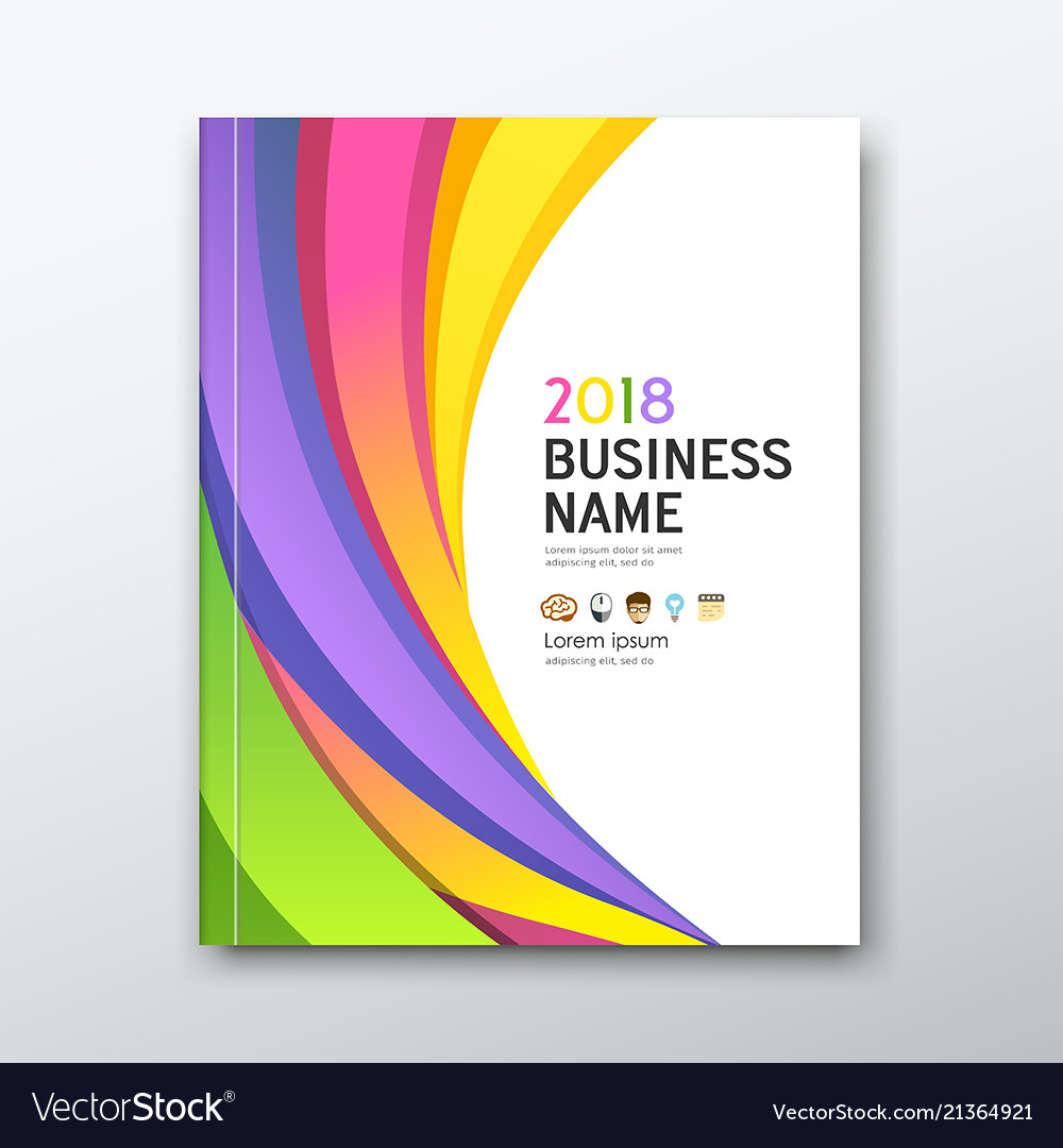 Cover business book annual report colorful curve