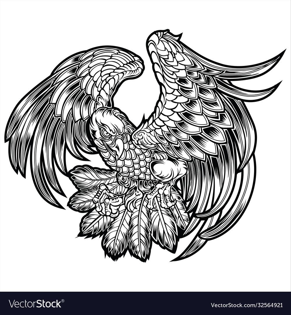 Eagle bird wing annimal usa america