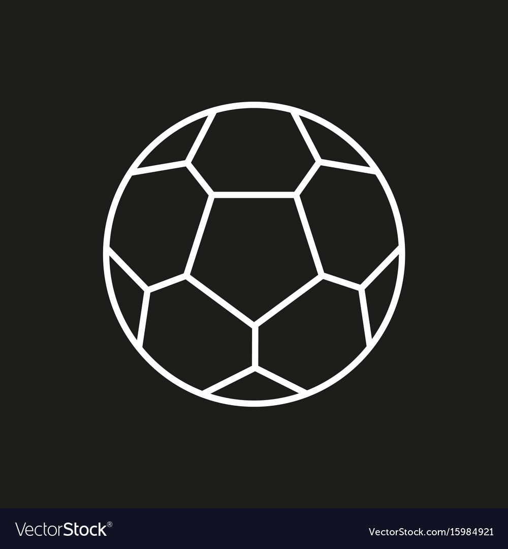 Soccer ball icon on black background
