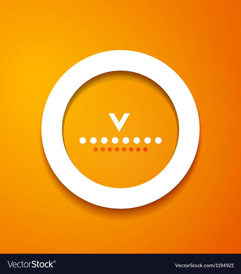 White paper circle on orange background