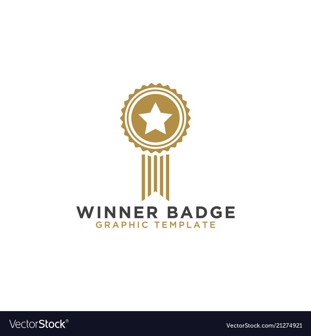 Winner badge graphic template