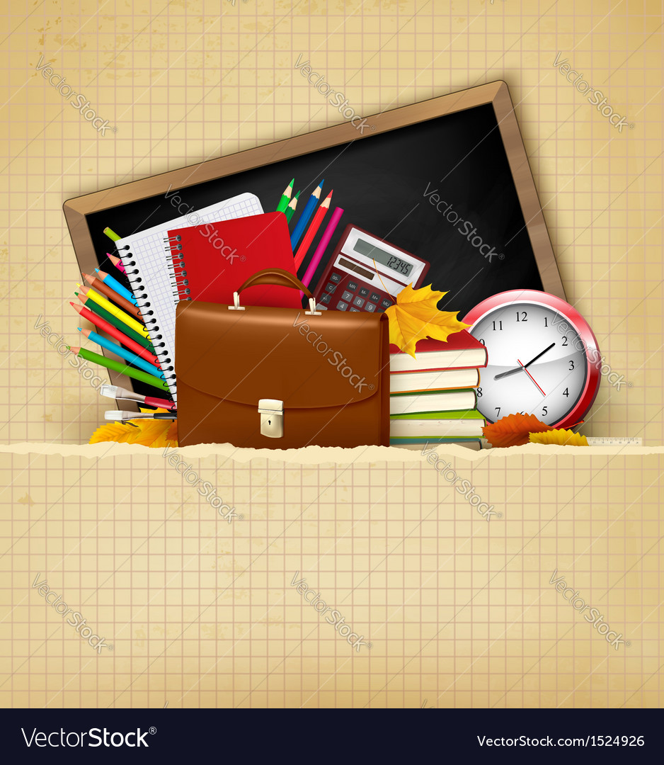 Back to school Background with school supplies and
